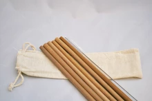 Bamboo Straw Set (6 Straws)