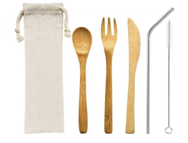 Bamboo Cutlery & Straw Travel Kit