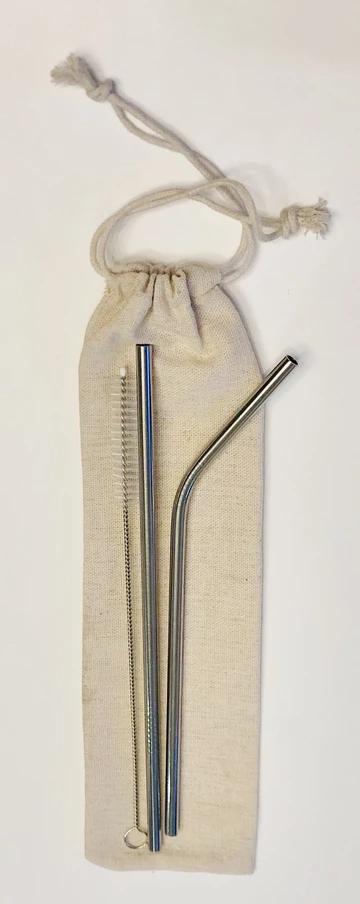 2 Piece Steel Straw Set