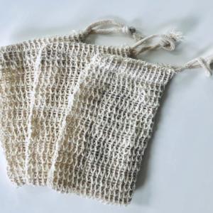 Natural Sisal Soap bag - Pack of 3