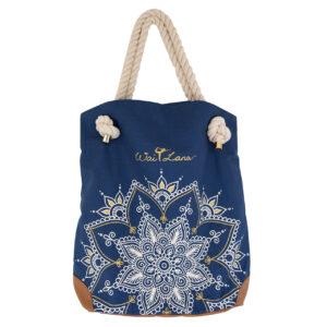 Organic Cotton Blue Mandala Bag