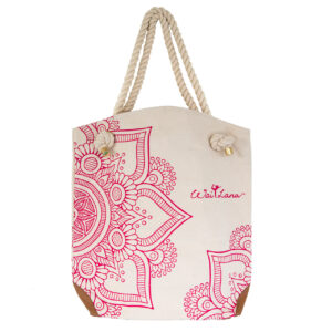 Organic Cotton Pink Mandala Bag